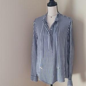 ZARA striped tunic top shirt blouse M